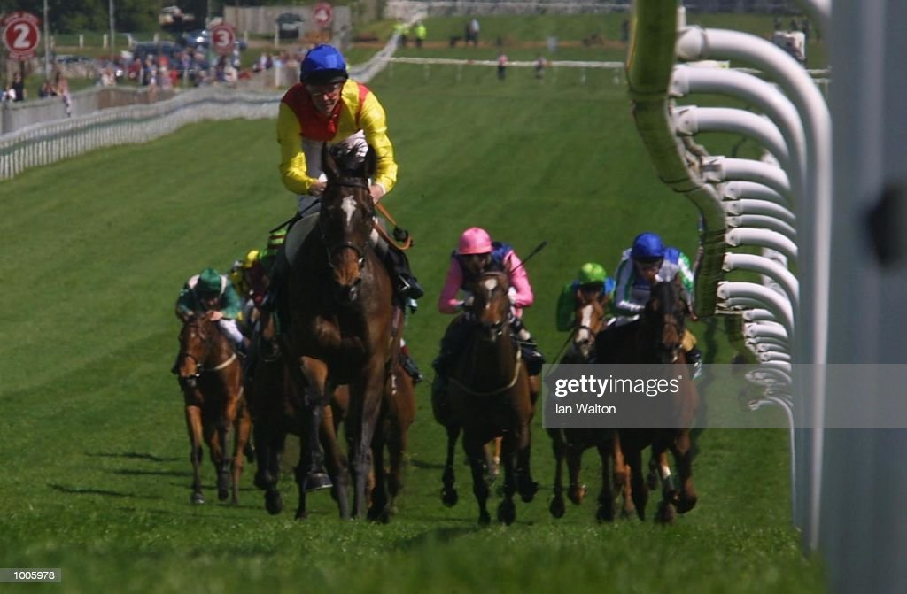 R. Hughes riding Salim Toto comes home to land the Stanley Racing great metropolitan stakes at Epsom Race Course, Surrey. DIGITAL IMAGE Mandatory Credit: Ian Walton/Getty Images