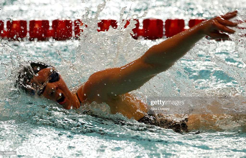 Rebecca Cooke in action during the heats for the Womens 800m Freestyle at the British Long Course Swimming Championships held at the Manchester Aquatics Centre. DIGITAL IMAGE. Mandatory Credit: Alex Livesey/Getty Images