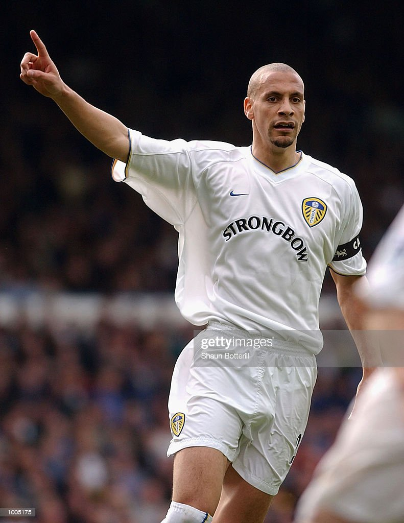 Rio Ferdinand of Leeds in action during the Leeds United v Fulham Barclaycard Premiership match played at Elland Road, Leeds. DIGITAL IMAGE Mandatory Credit: Shaun Botterill/Getty Images