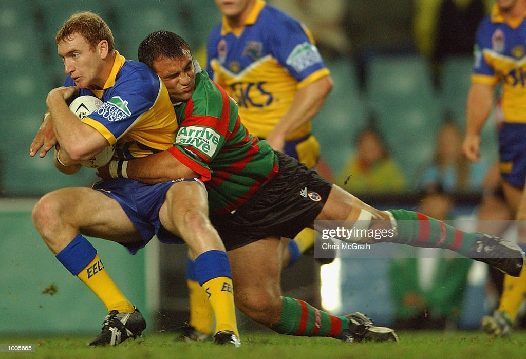 Scott Donald #2 of the Eels in action during the Round 6 NRL match between the South Sydney Rabbitohs and the Parramatta Eels held at Aussie Stadium, Sydney, Australia. DIGITAL IMAGE. Mandatory Credit: Chris McGrath/Getty Images