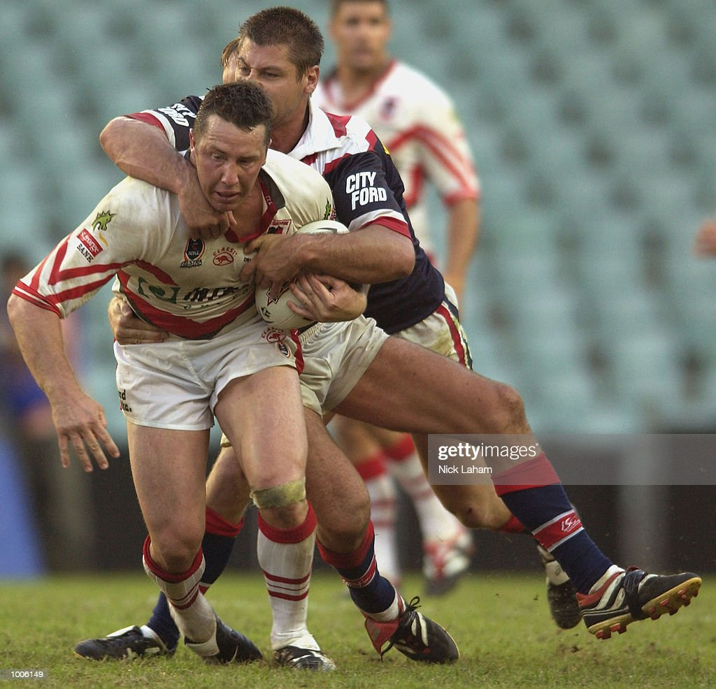Shaun Timmins of the Dragons in action during the NRL match between the St George Illawarra Dragons and the Sydney Roosters held at Aussie Stadium, Sydney, Australia. Mandatory Credit: Nick Laham/Getty Images