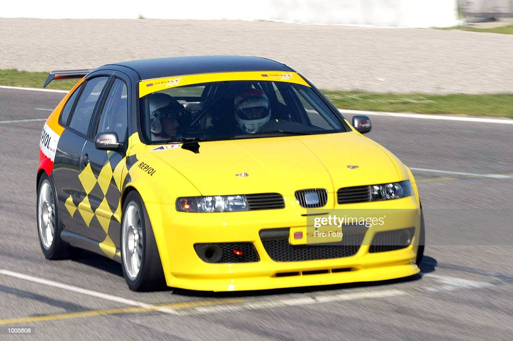 World number one Lleyton Hewitt of Australia drives a Seat Leon Sport at the Circuit de Catalunya in Barcelona. DIGITAL IMAGE Mandatory Credit: Firo Foto/Getty Images