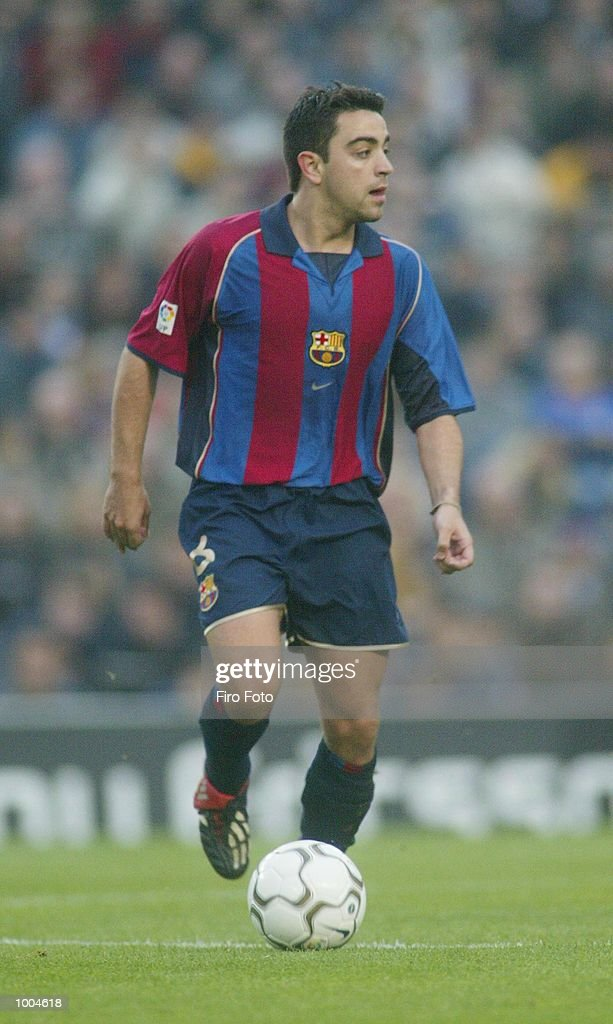 Xavi of Barcelona in action during the Primera Liga match between Barcelona and Alaves, played at the Camp Nou Stadium, Barcelona. DIGITAL IMAGE. Mandatory Credit: Firo Foto/Getty Images