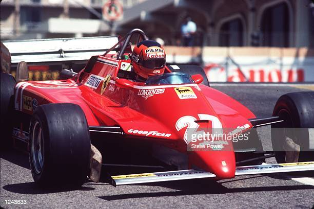 The late Gilles Villeneuve the legendary French Canadian driver seen in action driving his Ferrari racing car Gilles Villeneuve was killed at Zolder...