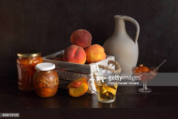 Apricot Jam, Peaches And Green Tea
