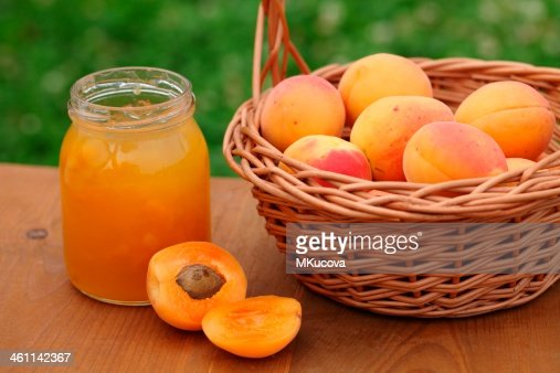 Apricot jam : Stock Photo