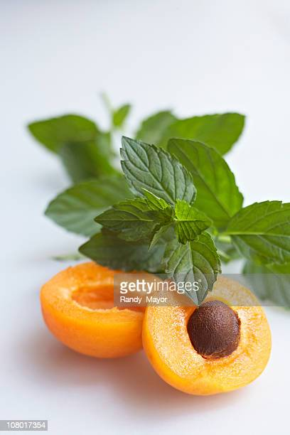 apricot with mint