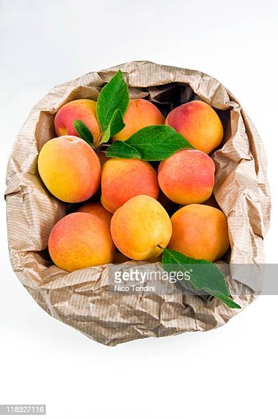 Apricots in a paper bag