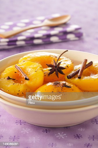Apricots with spices : Stock Photo