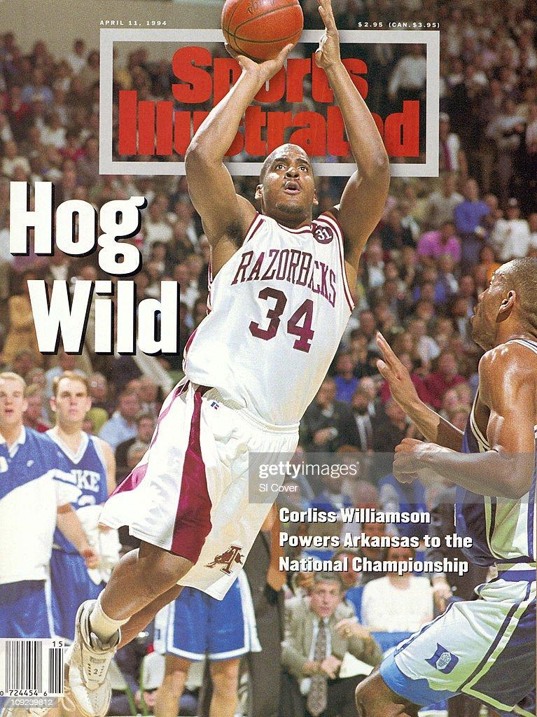 College Basketball NCAA Final Four Arkansas Corliss Williamson in action shot vs Duke at Charlotte ColiseumCharlotte NC 4/4/1994CREDIT John W...