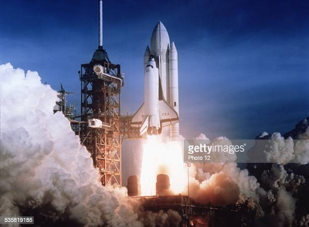 April 12th 1981 STS1 launch It was Columbia's first flight and at the  beginnig of the Space Transportation Systems