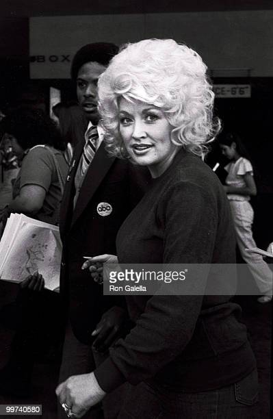 April 13 1980 file of Dolly Parton at the Dorothy Chandler pavilion for the rehearsals for the 52nd Annual Academy Awards in Los Angeles CA