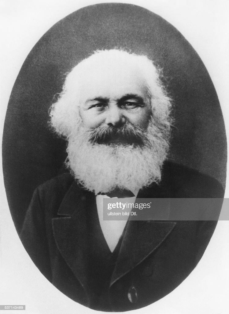 Karl Marx Philosoph Revolutionär D Portrait ovaler Rahmen Algier 28 April 1882 Aufnahme E Dutertre identisch mit Bild