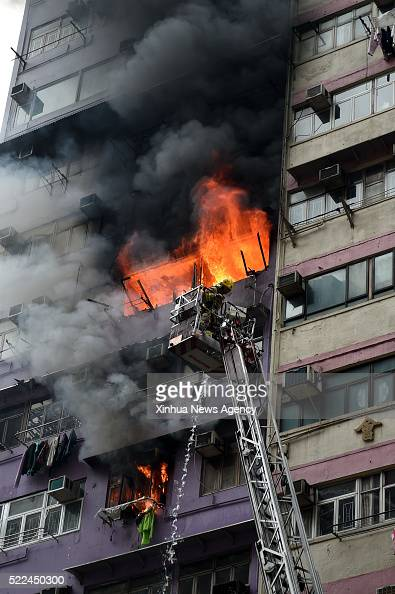 Kong April 19 2016 Firemen Put Out Fire In A Building