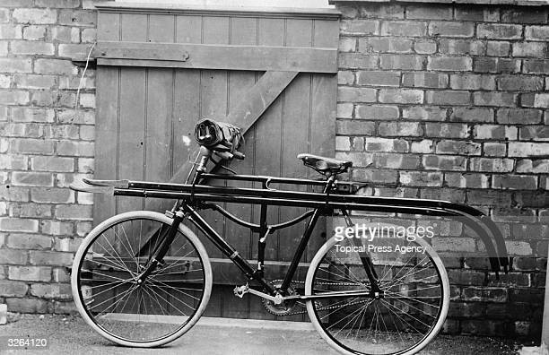 A bicycle which contains a stretcher and is part of a school for emergency coal mining rescue