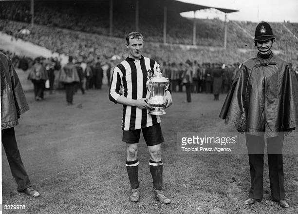 Newcastle United's Frank Hudspeth with the FA Cup trophy after Newcastle's 20 victory over Aston Villa in the FA Cup final at Wembley Stadium