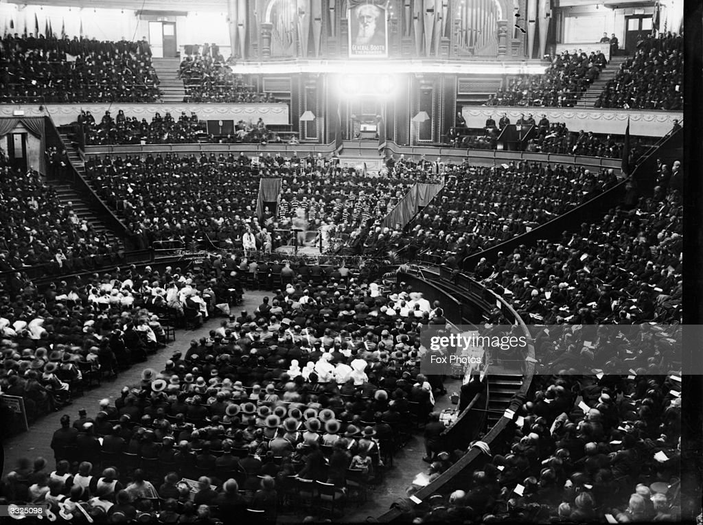 A centenary concert held in the Royal Albert Hall London commemorating the birth of William Booth founder of the Salvation Army