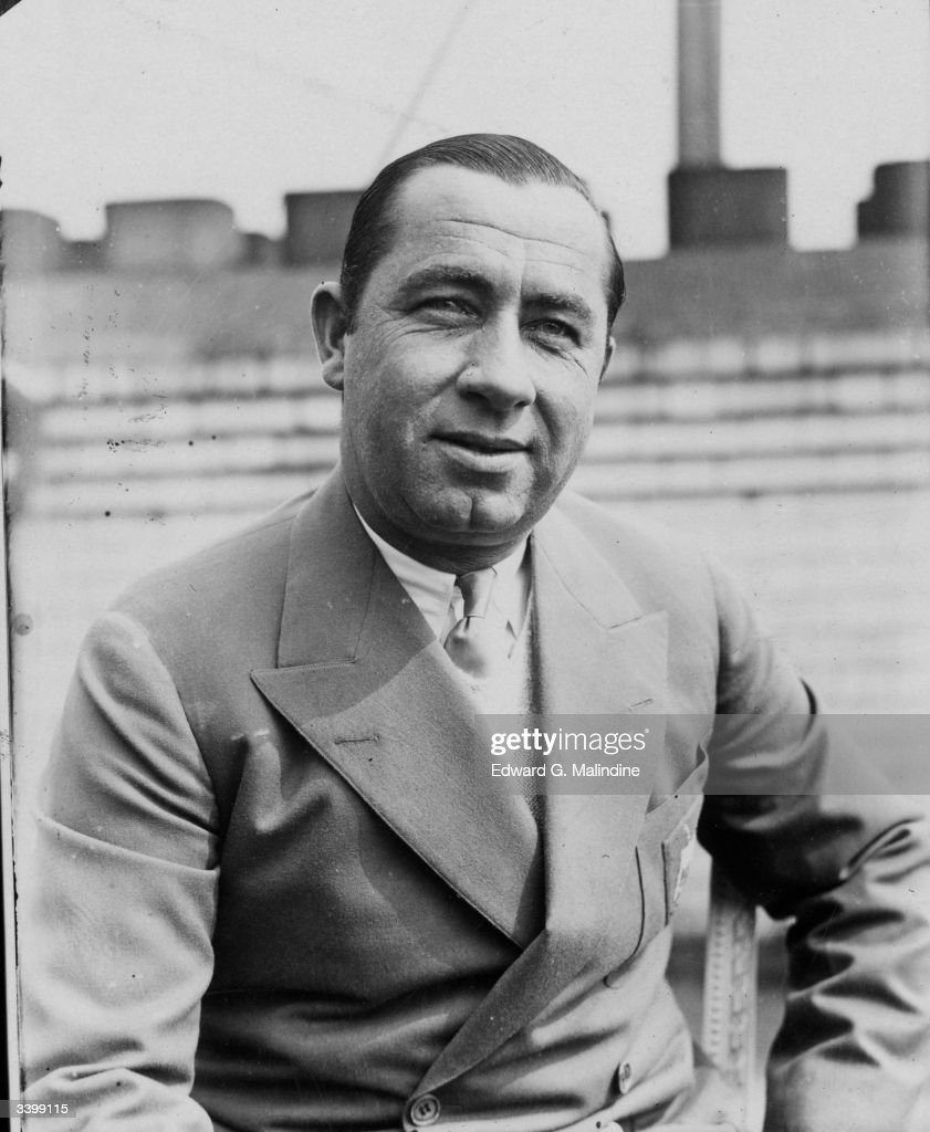 American golfer and captain of the USA Ryder Cup team Walter Hagen