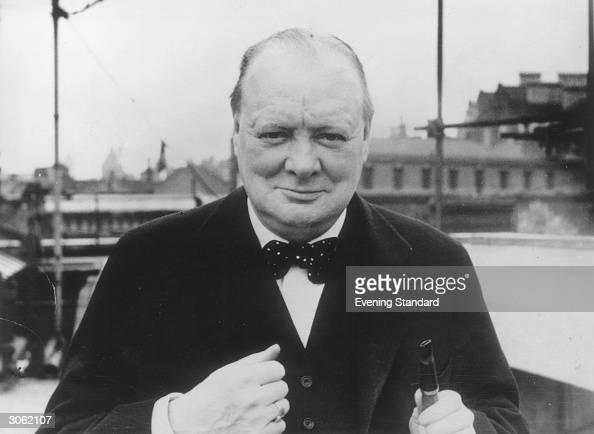 British Conservative politician Winston Churchill