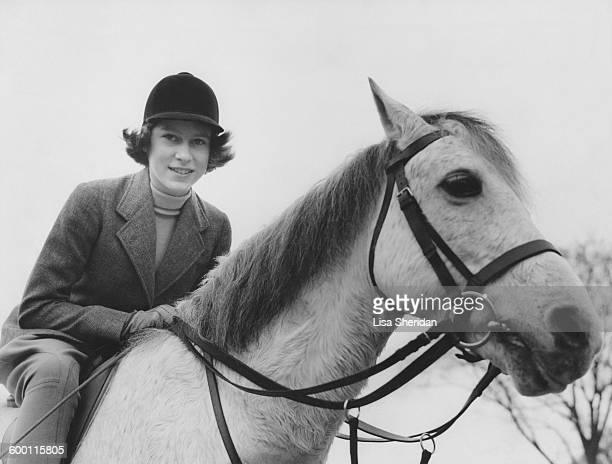 Princess Elizabeth out riding at the Royal Lodge Windsor