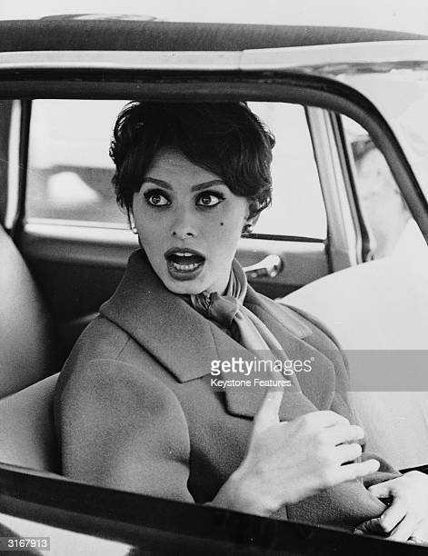 Italian film star Sophia Loren during a shopping trip in Burgenstock near Lucerne Loren was living in Switzerland with husband filmproducer Carlo...