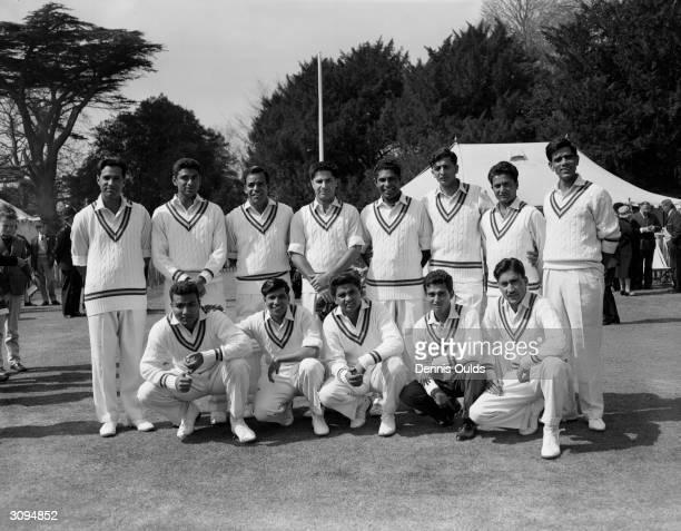 The Pakistani cricket team in England for the new season Saeed Ahmed Mohammed Farooq Imtiaz Ahmed Javed Burki Ali Muddin Ijaz Butt Hanif Mohammed and...