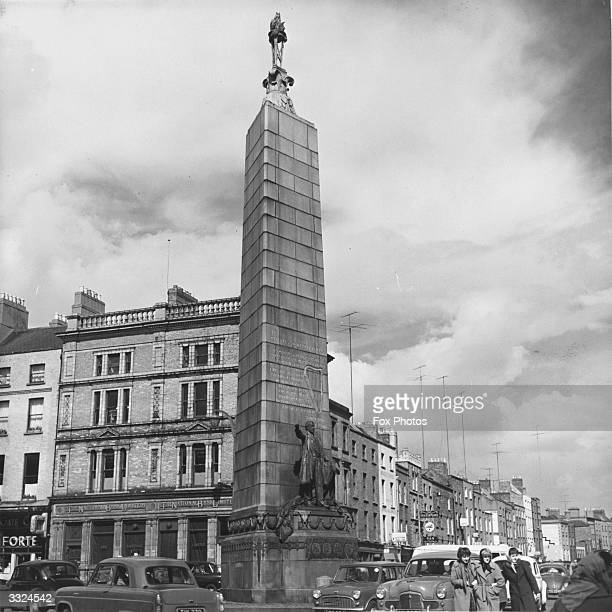 The statue of Irish nationalist and statesman Charles Parnell in Upper O'Connell Street Dublin The statue was erected by the Irish Nationalist...