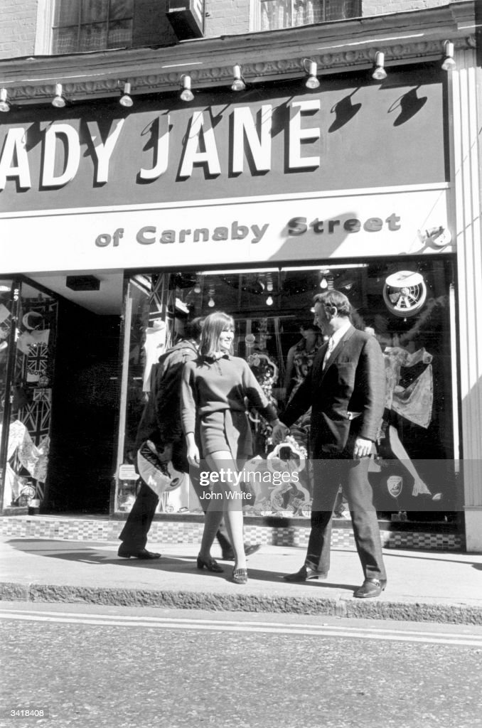Funky shoppers hanging out at London's Carnaby street.