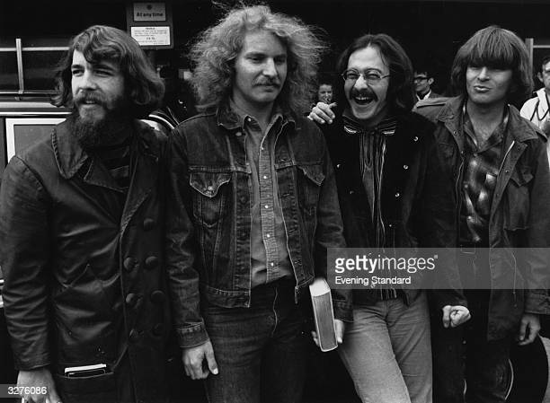 American country rock group Creedence Clearwater Revival From left to right Doug Clifford Tom Fogerty Stu Cook and John Fogerty
