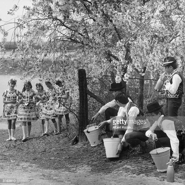 In Hungary it is an Easter tradition that young boys sprinkle young girls with water on Easter Monday in return for their dousing the girls...