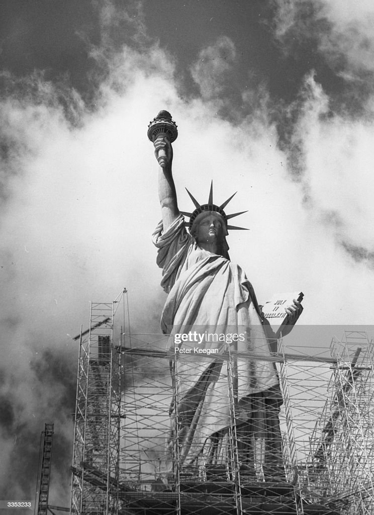 The statue of Liberty on Ellis Island in New York was opened in 1886 and is now in need of repairs which will cost around $30 million.