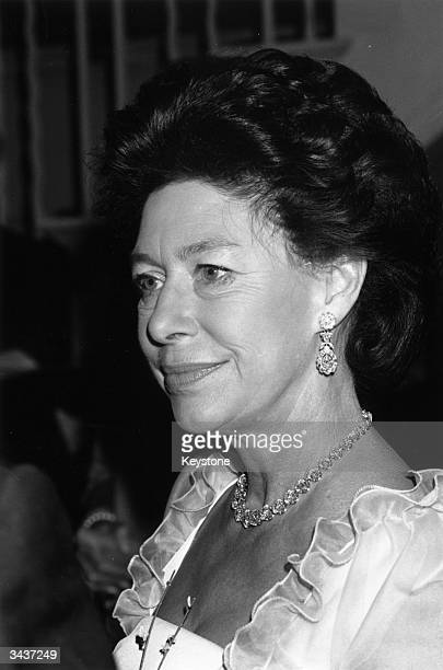 Princess Margaret Rose younger daughter of King George VI and Queen Elizabeth and sister of Queen Elizabeth II at the Royal Opera House