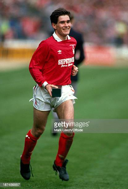 9 April 1989 Football League Cup Final Nottingham Forest v Luton Town Nigel Clough of Forest looking happy with his winners medal