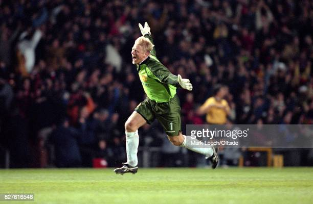 UEFA Champions League Semi Finals 1st Leg Manchester United v Juventus United goalkeeper Peter Schmeichel celebrates the equalising goal Photo Mark...