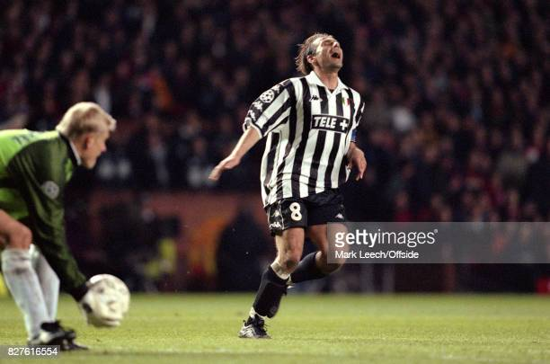 UEFA Champions League Semi Finals 1st Leg Manchester United v JuventusAntonio Conte of Juventus shows his disappointment as United goalkeeper Peter...