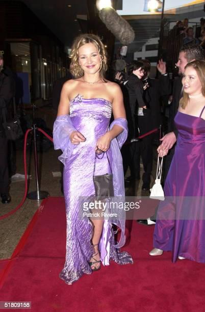 April 2000 Carla Bonner Katie at the TV Week Logies 2000 at the Crown Casino in Melbourne