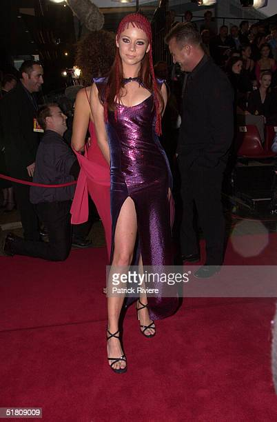 April 2000 Kimberley Cooper at the TV Week Logies 2000 at the Crown Casino in Melbourne