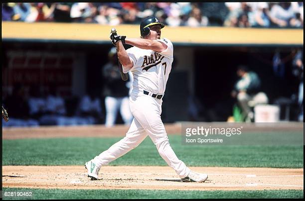 Jeremy Giambi of the Oakland A's during the A's 42 victory over the Anaheim Angels at Network Associates Coliseum in Oakland CA