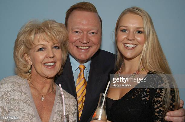 7 April 2003 PATTI NEWTON BERT NEWTON and LAUREN NEWTON at the launch of the book 'Take 40' for women turning 40 At the Channel 10 building in...