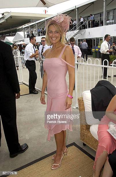 3 April 2004 Alison Cratchley at the Golden Slipper Racing Carnival held at Rosehill Gardens Racecourse Rosehill Sydney Australia