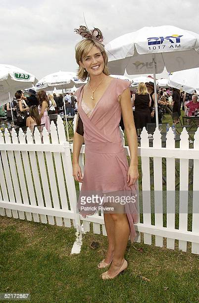 3 April 2004 Anna Coren at the Golden Slipper Racing Carnival held at Rosehill Gardens Racecourse Rosehill Sydney Australia