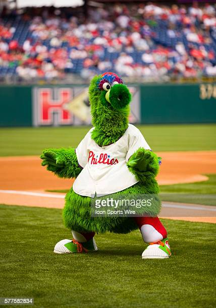 19 April 2009 The Phillie Phanatic does some magic during his pregame birthday party prior to the game played between the San Diego Padres v...