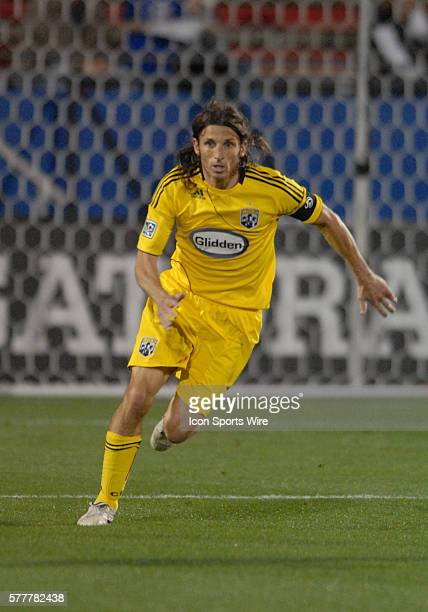 Columbus defender Frankie Hejduk during 2 2 draw with FC Dallas at Pizza Hut Park in Frisco TX