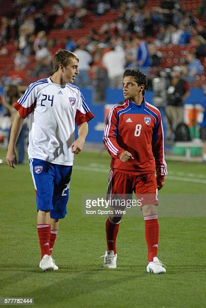 FC Dallas reserves Eric Alexander and Bruno Guarda during 2 2 draw with Columbus at Pizza Hut Park in Frisco TX