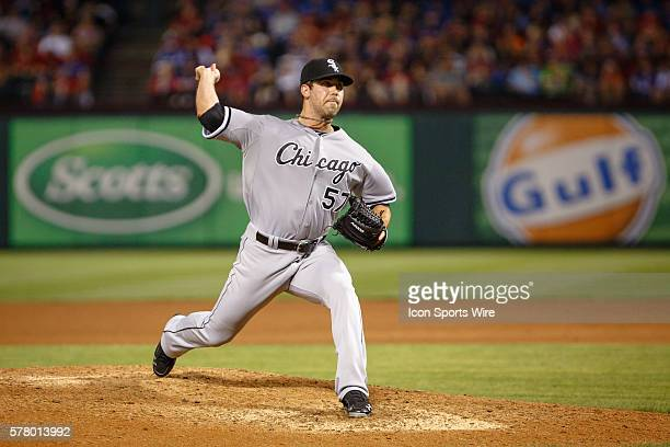 Chicago White Sox Pitcher Zach Putnam [8273] in action during the MLB baseball game between the Texas Rangers and Chicago White Sox at Globe Life...
