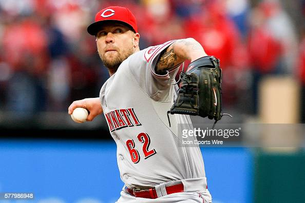 Cincinnati Reds relief pitcher Trevor Bell pitches against the St Louis Cardinals at Busch Stadium in St Louis Missouri The Cardinals won 53