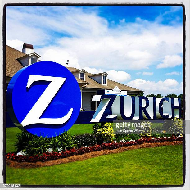 25 April 2014 Zurich Classic of New Orleans The Zurich logo stands in front of the TPC Louisiana clubhouse