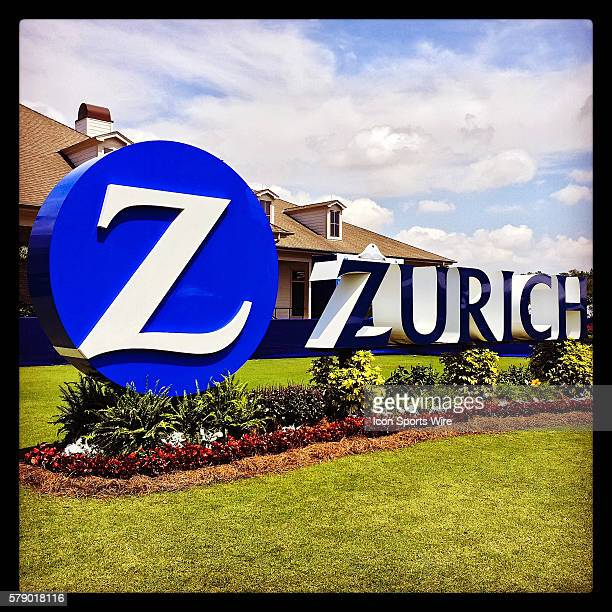 24 April 2014 Zurich Classic of New Orleans The Zurich logo stands in front of the TPC Louisiana clubhouse