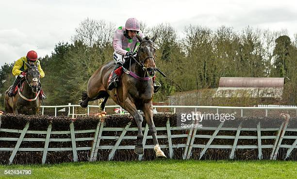 28 April 2015 Douvan with Ruby Walsh up on their way to winning the Herald Champion Novice Hurdle Punchestown Racecourse Punchestown Co Kildare...