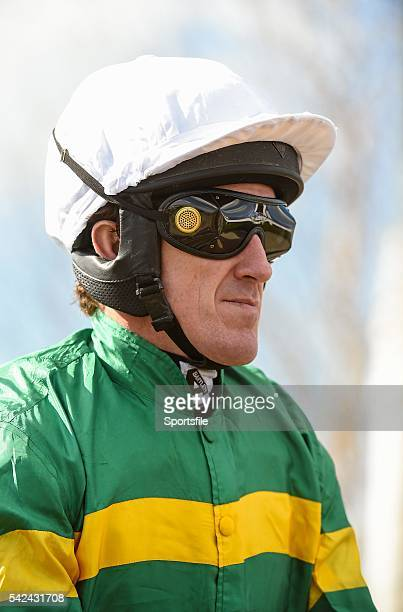 6 April 2015 Jockey Tony McCoy onboard his mount Flaming Dawn before the Rathbarry Glenview Studs Novice Hurdle Fairyhouse Easter Festival Fairyhouse...
